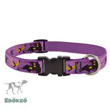 "Lupine Dog Collar 1/2"" Haunted House 8-12"""