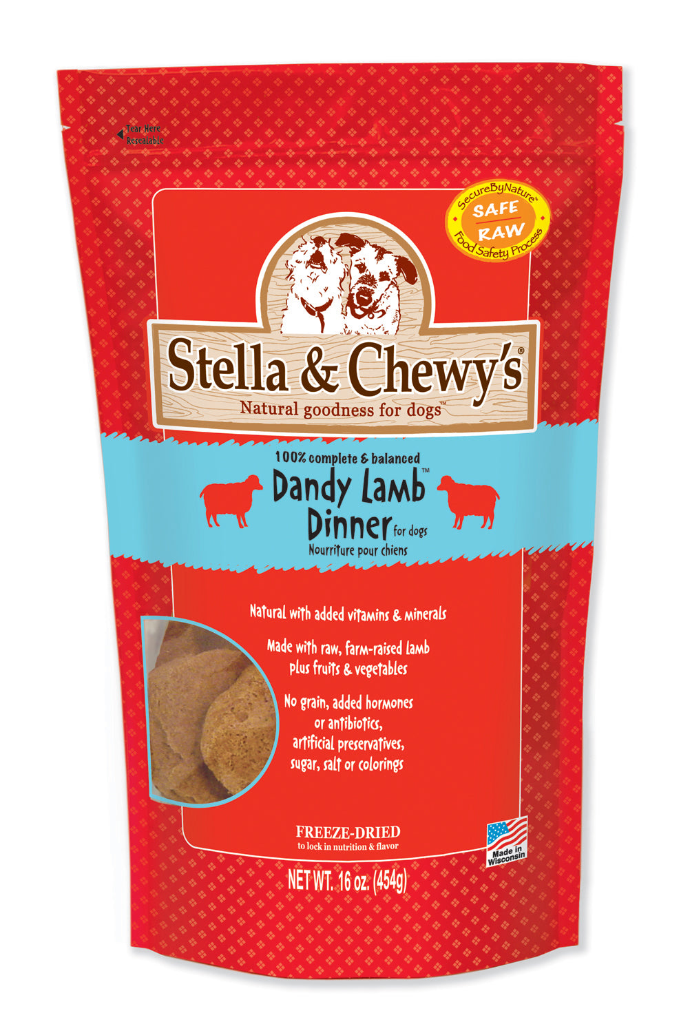 Stella & Chewy's Freeze Dried Patties Lamb 14oz