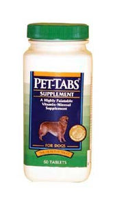 Sergeant'S Virbac Pet-Tabs Complete Daily Vitamin-Mineral Dog Supplement (60 Tablets)