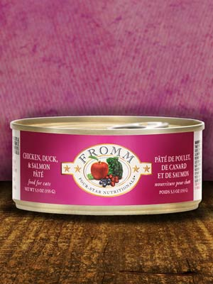 Fromm Cat 4Star Chicken Duck & Salmon Pate Case Of 12/5.5 Oz Cans