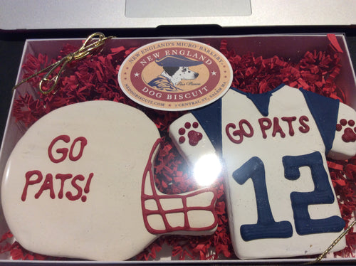Gift Box - Football - New England Dog Biscuit