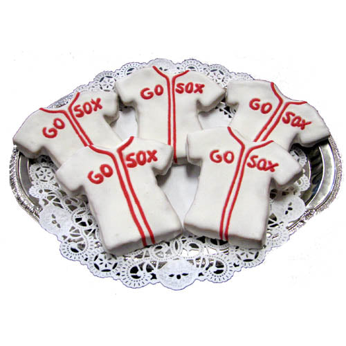 Baseball Jersey Doggie Cookie - New England Dog Biscuit - Box of 4