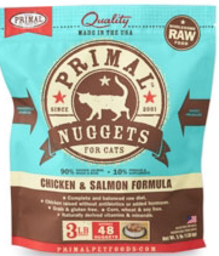 Primal Cat Nuggets Raw Chicken & Salmon 3lb