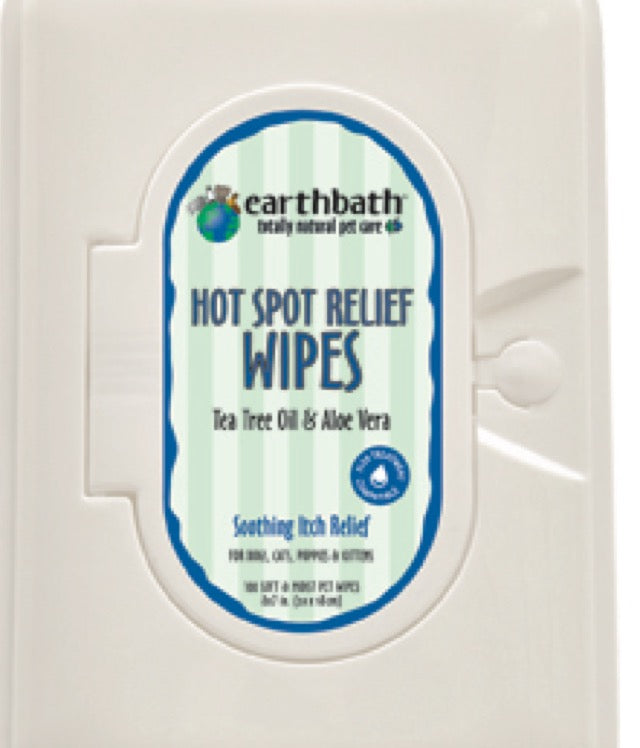 Earthbath Hot Spot Relief Wipes 100ct
