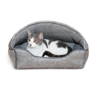 "K&H Pet Products Amazin' Kitty Lounger Hooded Gray 13"" x 17"""
