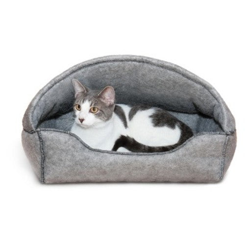 K&H Pet Products Amazin' Kitty Lounger Hooded Gray 13