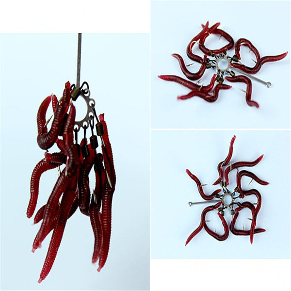 Artificial Fishing Lure Red Earthworms
