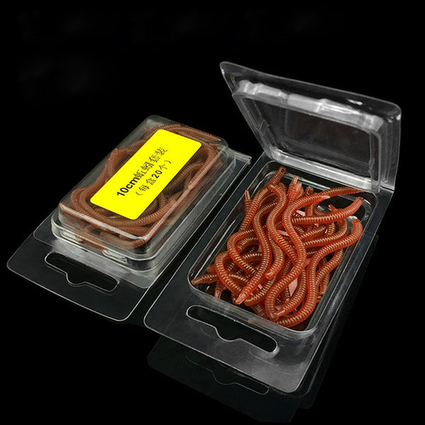 Fishing Lure Red Simulation Earthworm