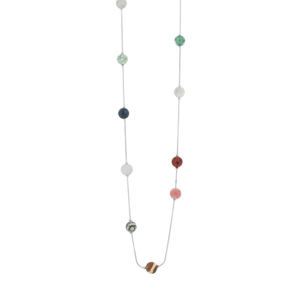 Amber Rainbow Stone Necklace N0019