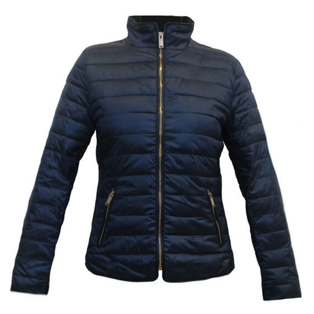Puffer Jacket in Navy or Silver by Rino & Pelle