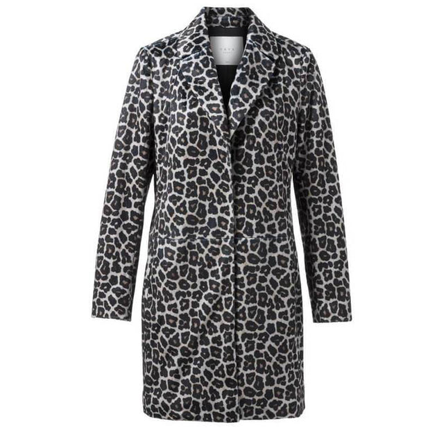 Faux Fur Leopard Print Coat by Yaya