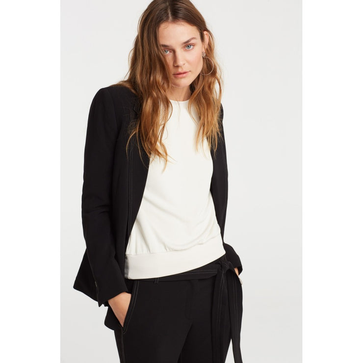 Fitted blazer with contrast