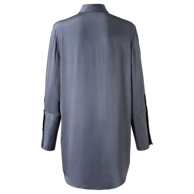 Satin Feel Anthracite Blouse by Yaya