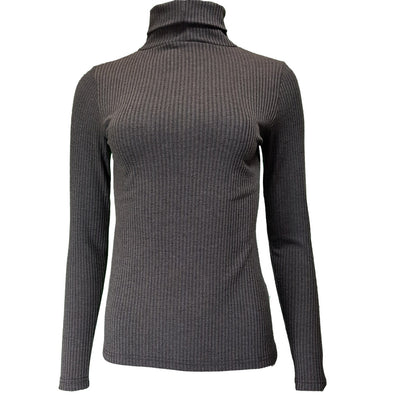 Polo Neck rib top