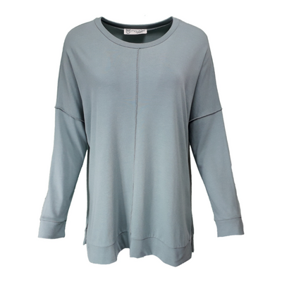 Front seam jersey tunic