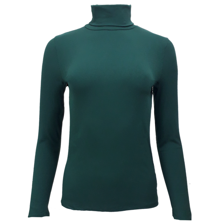 Cotton Roll Neck Fitted Top