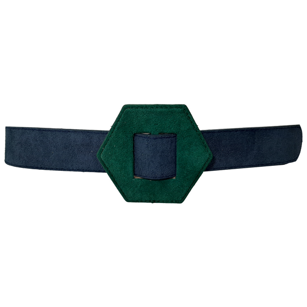 Two Tone Suedine Belt