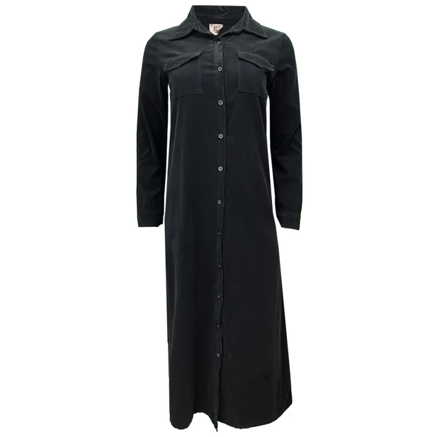 Long Cord Shirt Dress/Cardigan