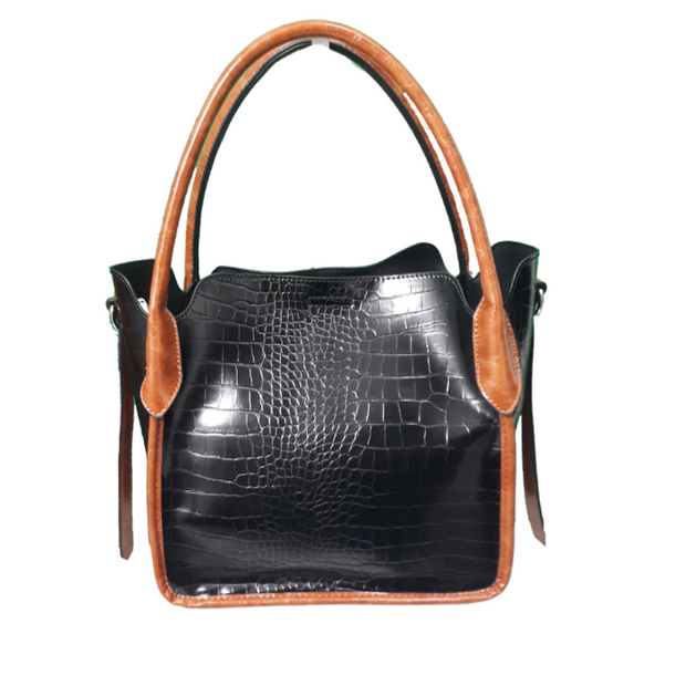 2 in one Crocodile print Bag