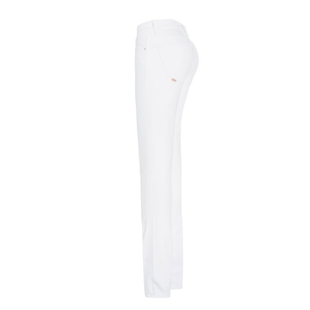 Medium Waist Skinny Leg Jeans in Blue or White