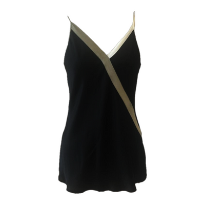 Strappy camisole top with contrasting trims