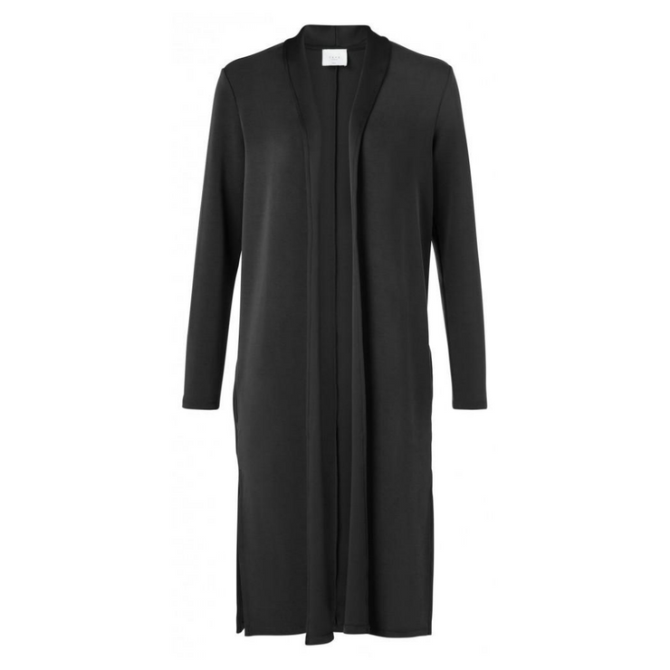 Long clean jersey cardigan