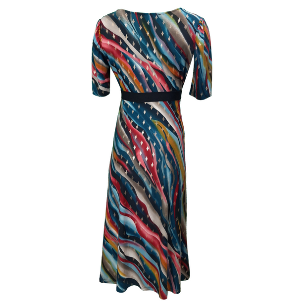Edith Printed Wave Dress