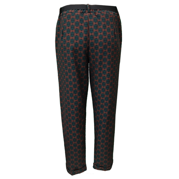 Printed Trousers Elasticated Waist