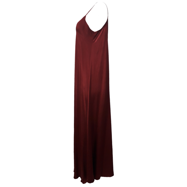 Satin Wave Maxi Dress