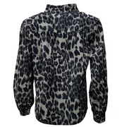 Leopard printed cord shirt