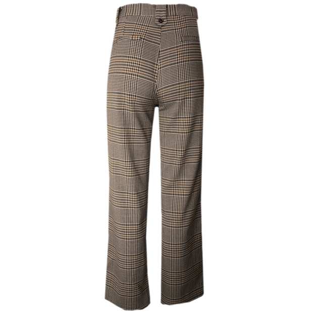 Check Print Loose Trouser
