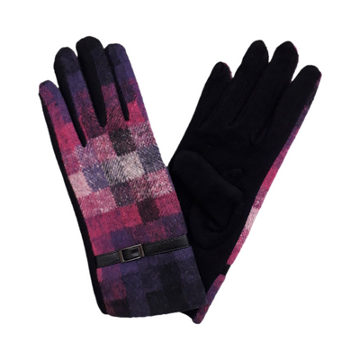 Block print gloves
