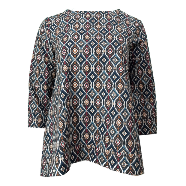 Printed Top/Tunic 3/4 Sleeves