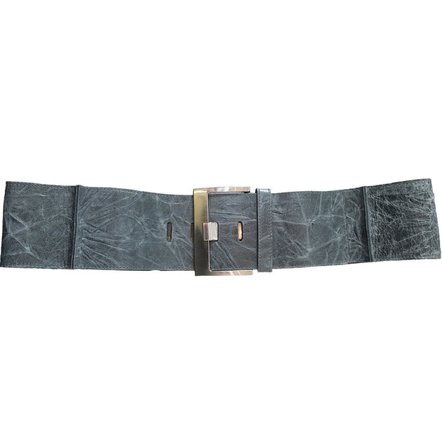 Square Buckel Belt Blue