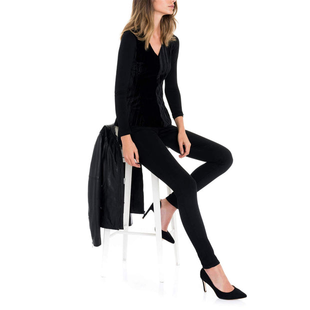 Push in Super Skinny Black Trousers by Salsa