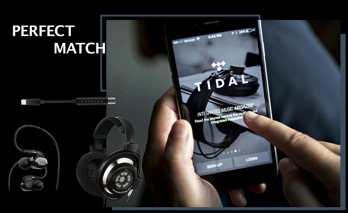 Ampaster will perfectly match your favorite headphones and hifi music apps.