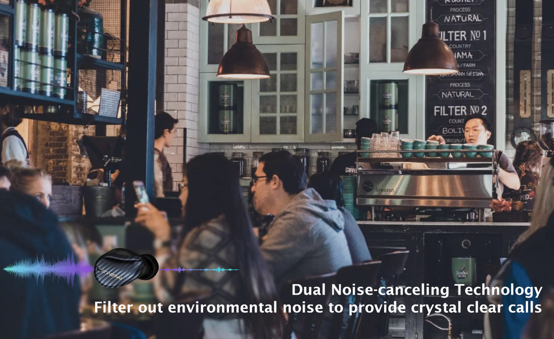 iSound feature 2: DSP NC & CVC 8.0.  Dual noise-canceling technology filter out environmental noise to kprovide crystal clear calls.