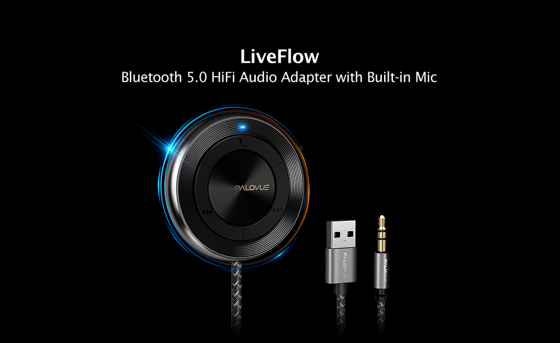 LiveFlow: bluetooth adapter with Qualcomm 5.0 technology and HiFi acoustic performance