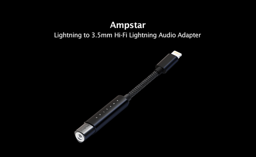 Ampstar: Apple-certified HiFi lightning to 3.5 mm headphone jack adapter.