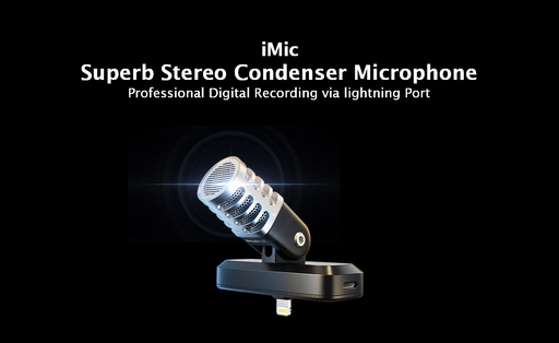 iMic is a superb stereo condenser microphone for iphone with digital stero condenser mic the best tiny microphone for iphone