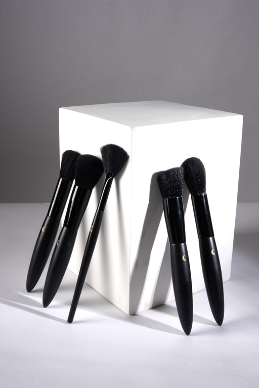 UMBRA Deluxe Makeup Brush FACE SET (5pcs + Standing Pouch)