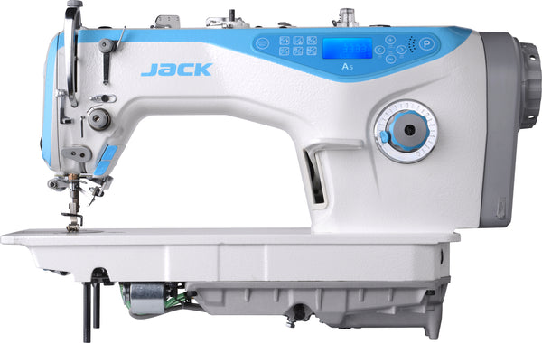 Jack A5-N - Direct Drive, Single Needle Lockstitch Machine w/ Automatic Thread Trimmer and Bird Nest Prevention