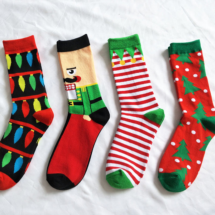 Nomadic Gentleman Christmas Holiday Socks