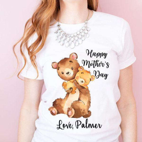 Personalisierter Name Muttertag Baby Strampler / Mama T-Shirts / Personalisierter Bär Strampler zum Muttertag