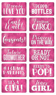 Pink Baby Shower Props