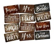 Rustic Wedding Prop Set, 6 Pieces, Doublesided