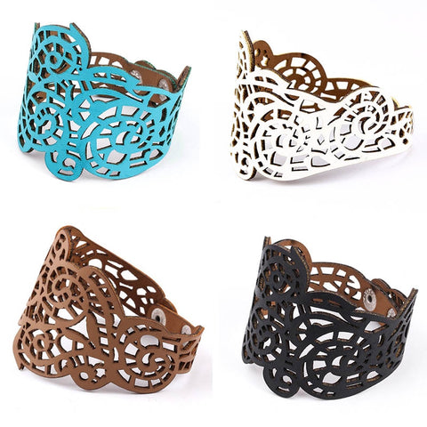 Fashion Motif Leather Statement Bracelets