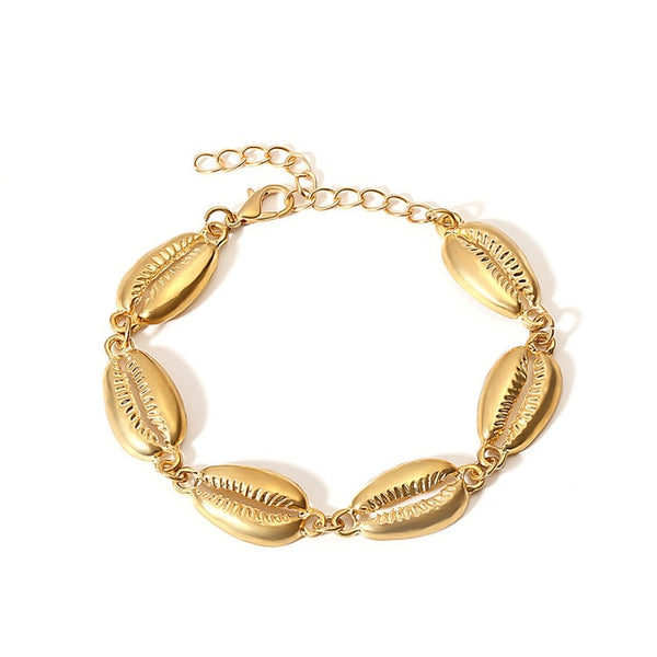 Gold Cowrie Shell Bracelets