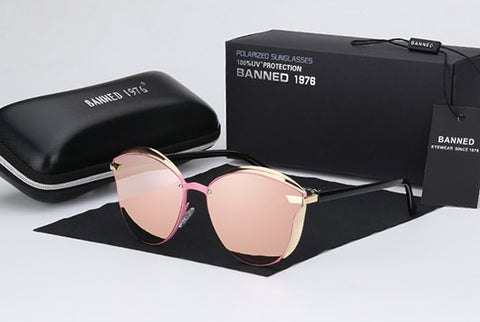 BANNED 1976 Luxury Women Sunglasses UV400 Anti-reflective Gradient Shade