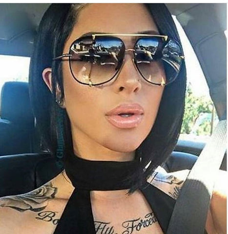 Fashion Oversized Pilot Sunglasses